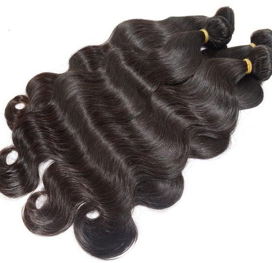 Image of  3 or 4pcs  8A Elite Peruvian remy virgin hair body wave human hair  Virgin hair bundles