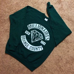 "Image of Millionaires ""OC CLUB"" Deep Forest Green Crewneck"
