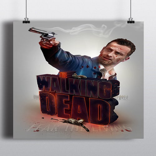 Image of The Walking Dead Poster print