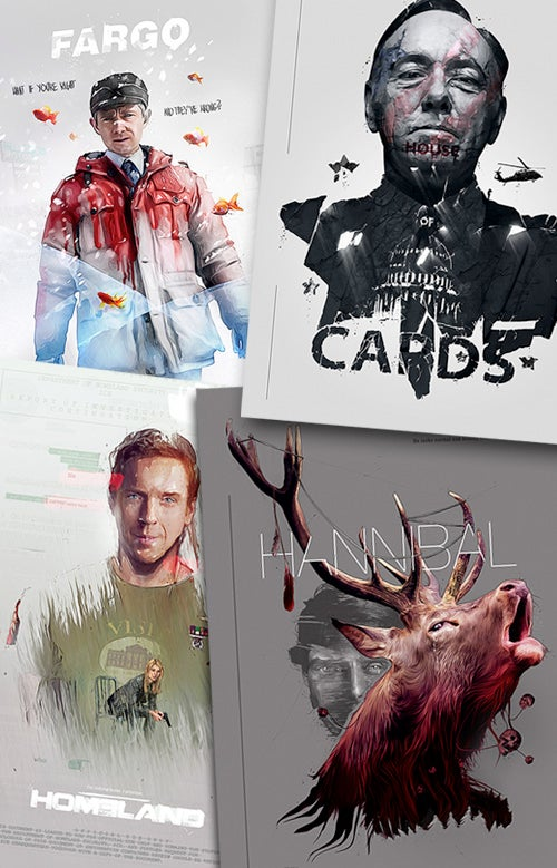 Image of Tv shows (Series 3) Poster set