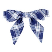 Image of navy plaid {lady bow}