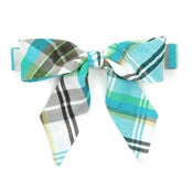 Image of teal plaid {lady bow}
