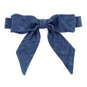 Image of woodland washed denim {lady bow}