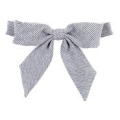 Image of denim stripe {lady bow}