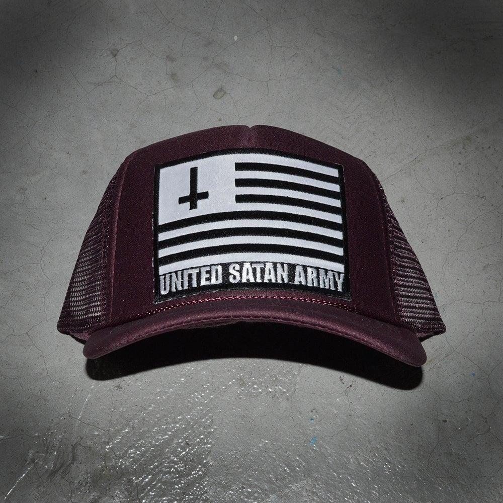 Image of USA BURGUNDY HAT