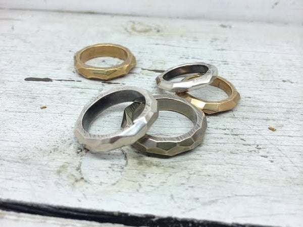 Image of Faceted Band // ON SALE