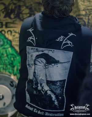 "Image of Shining ""Submit To Self-Destruction"" Hooded Sweatshirt"