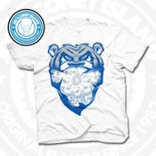 Image of Welcome To The Jungle White (Sports Blue) Tee