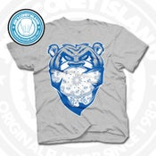 Image of Welcome To The Jungle Grey (Sports Blue) Tee