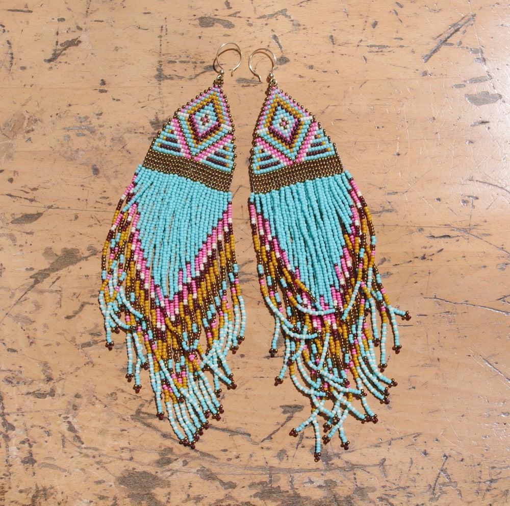 """Image of Turquoise """"Dota"""" Earrings"""