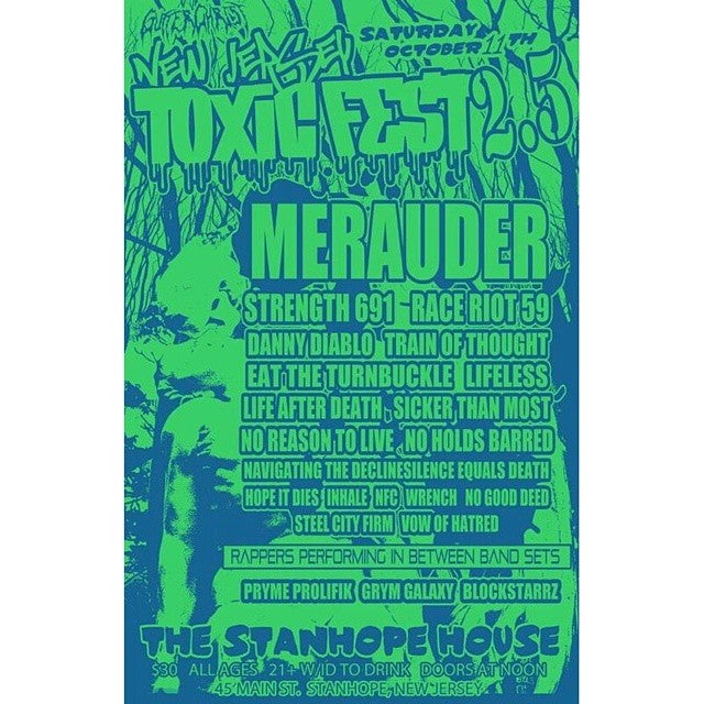 Image of NJ TOXIC FEST 2.5 LIMITED SCREEN PRINTED POSTER