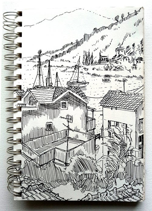 Image of inked drawing Kefalonia