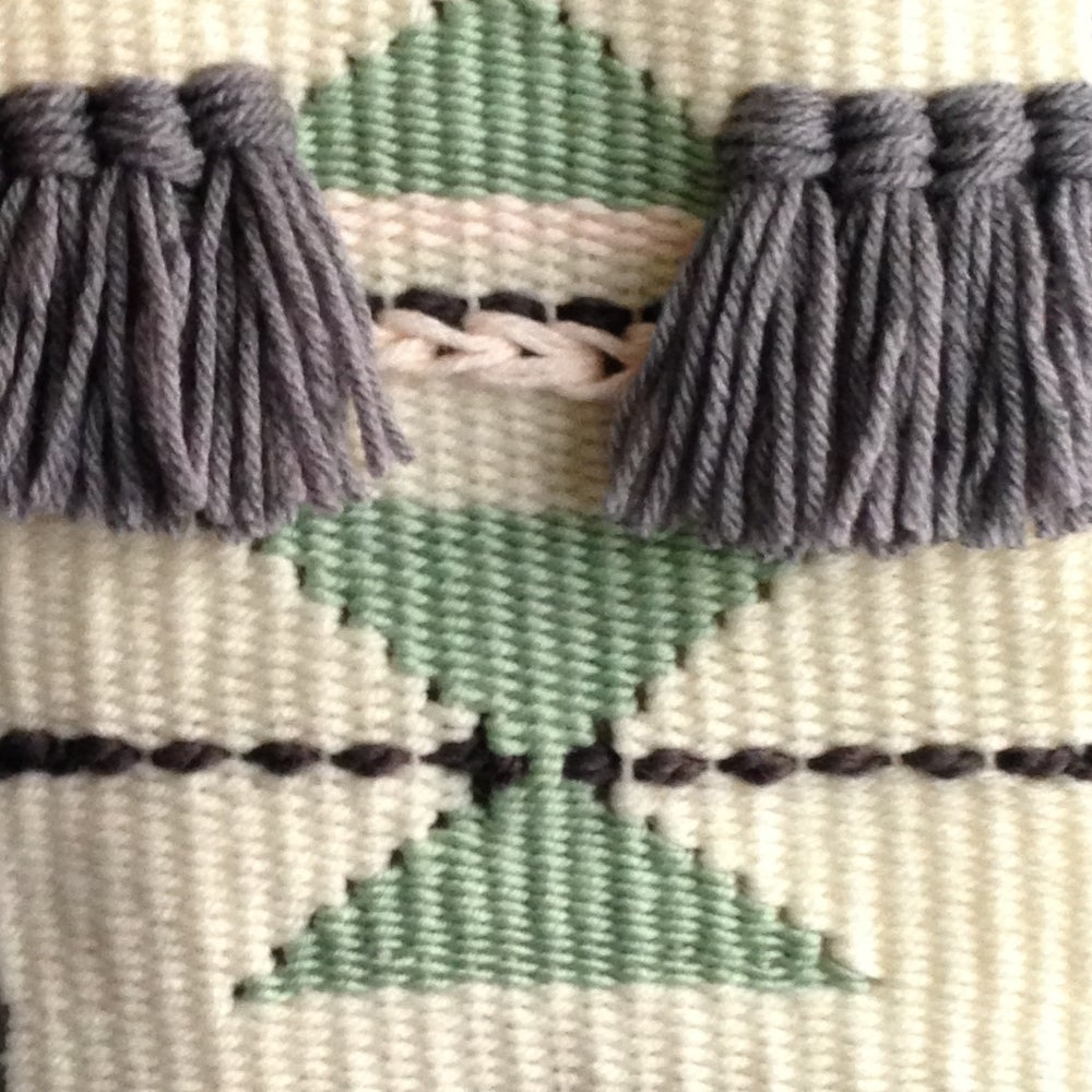 Image of Handmade Triangle Wall Weaving 1