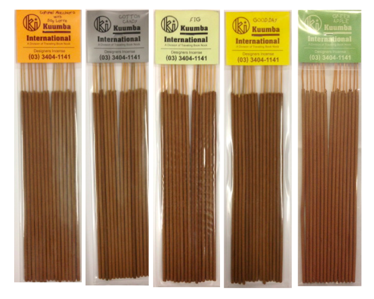 Image of Kuumba Incense Regular Incense - Caramel Macchiato, Cotton Candy, Fig, Good Day, Green Apple