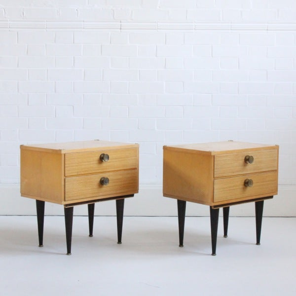 Image of Pair of French Bedside Tables (ii)
