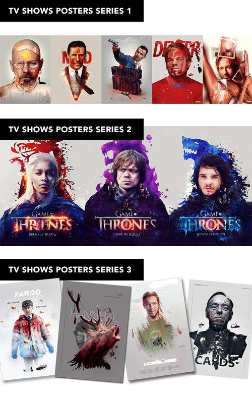 Image of Tv shows Poster sets 1 - 3