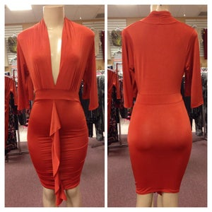Image of Bodycon dress with ruffle