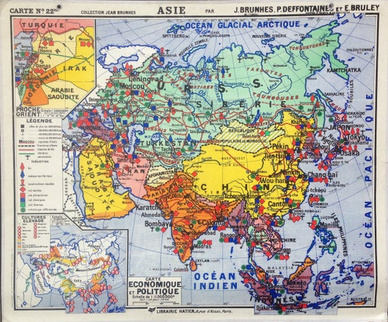 Image of 1950s Map of Asia