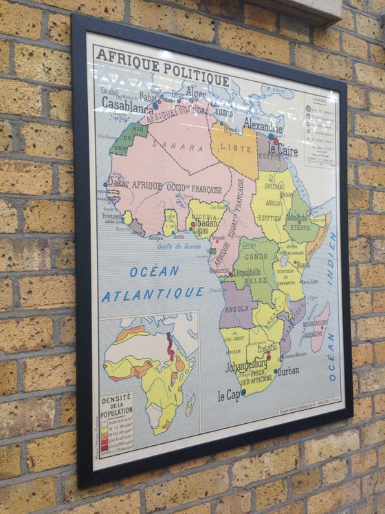 Image of 1950s Political Map of Africa