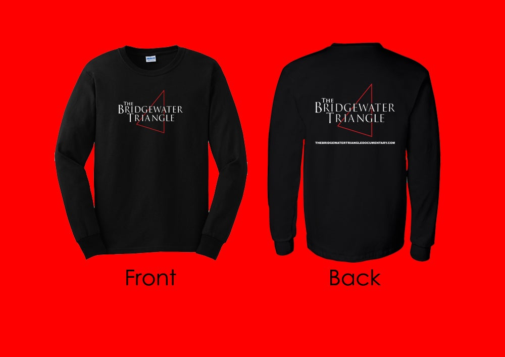 Image of The Bridgewater Triangle Long Sleeve T-Shirt - Black