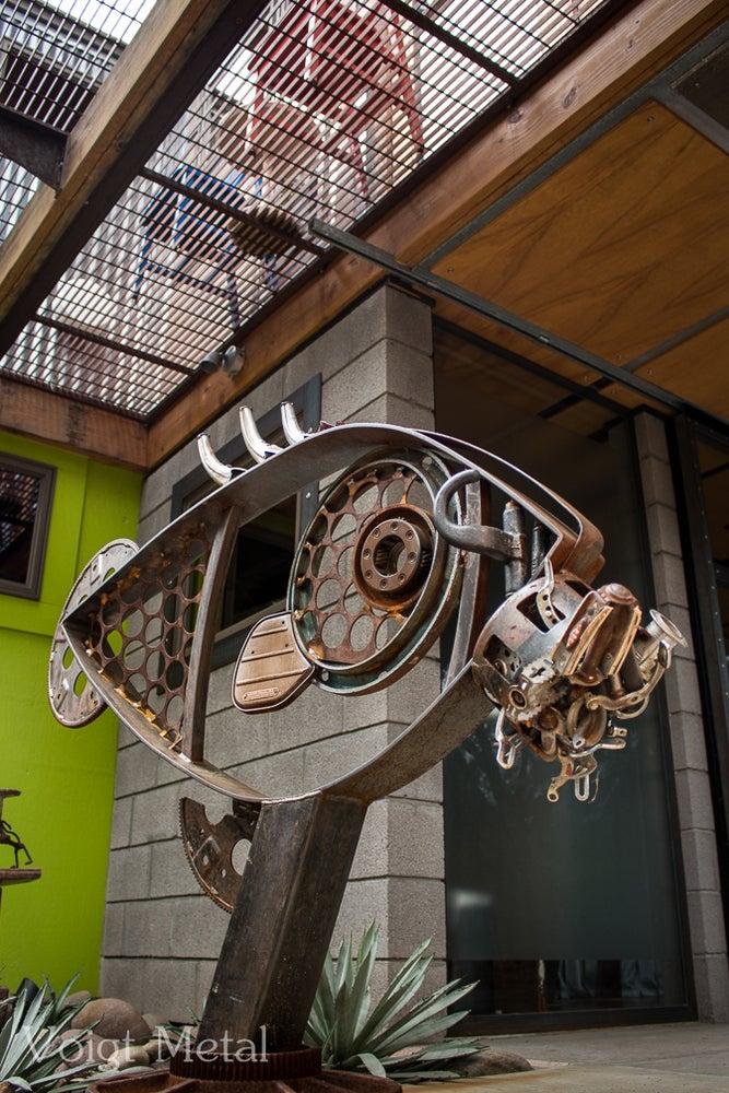"Image of ""Fish eye"" Carbon genetics eats man powered transportation."