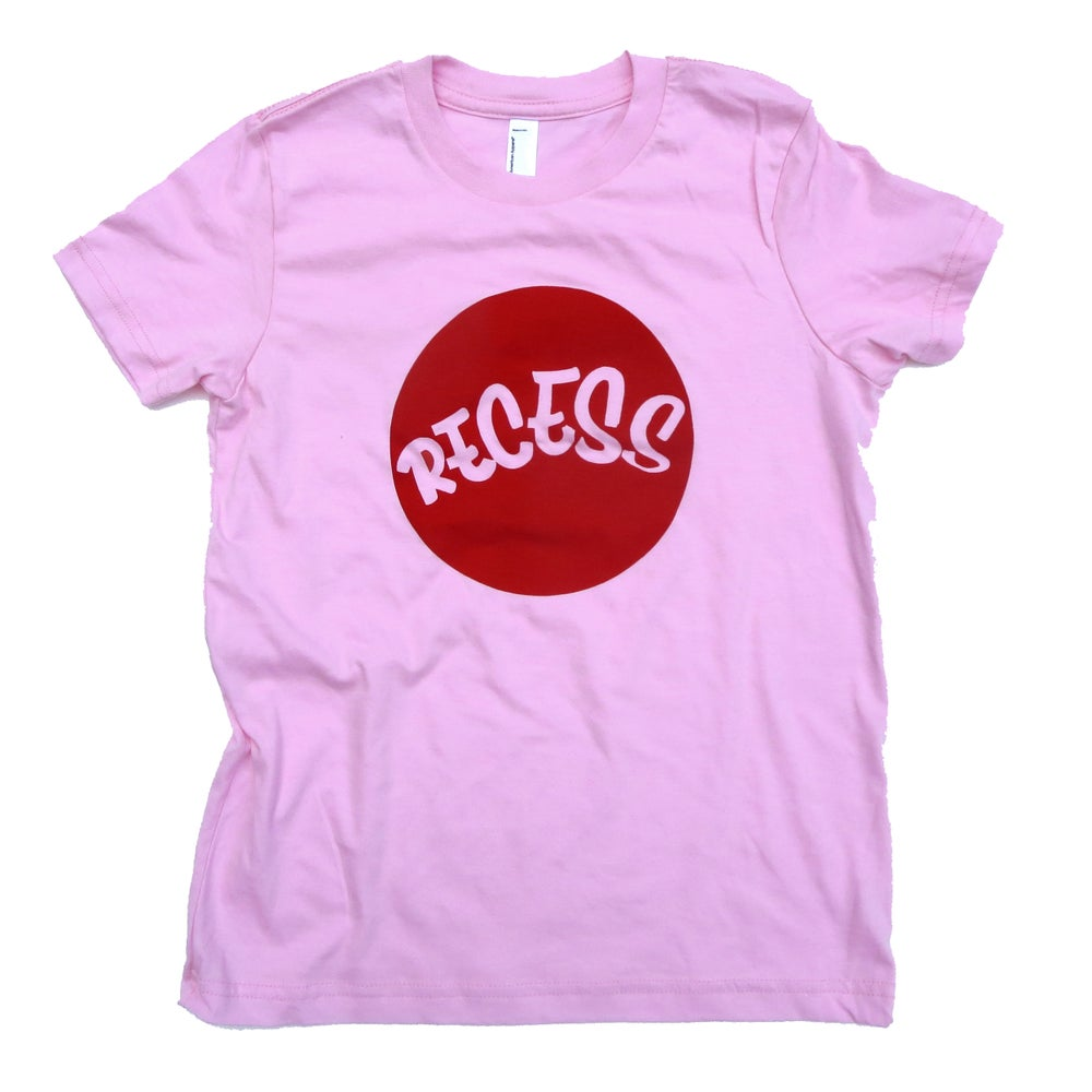 Image of RECESS Cherry Red Logo 'DOT' Tee - Youth