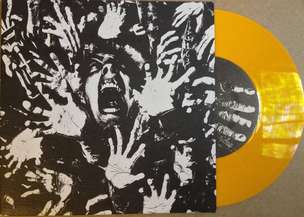 "Image of SHACKLΣS/WORN OUT: SPLIT 7"" YELLOW VINYL (CASTIGATED 01)"
