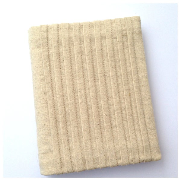 Image of Pleated Cotton Hemp, Re Usable Visual Journal Slip Cover
