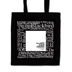 Image of White Album Concert Black Tote Bag