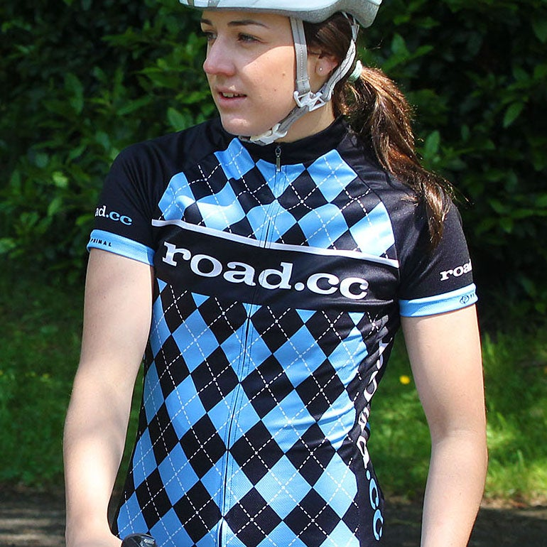 Image of road.cc Women's race cut jersey