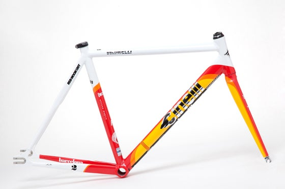 Image of Cinelli Vigorelli Red Hook Crit Barcelona Special Replica Frame-Kit Limited Edition