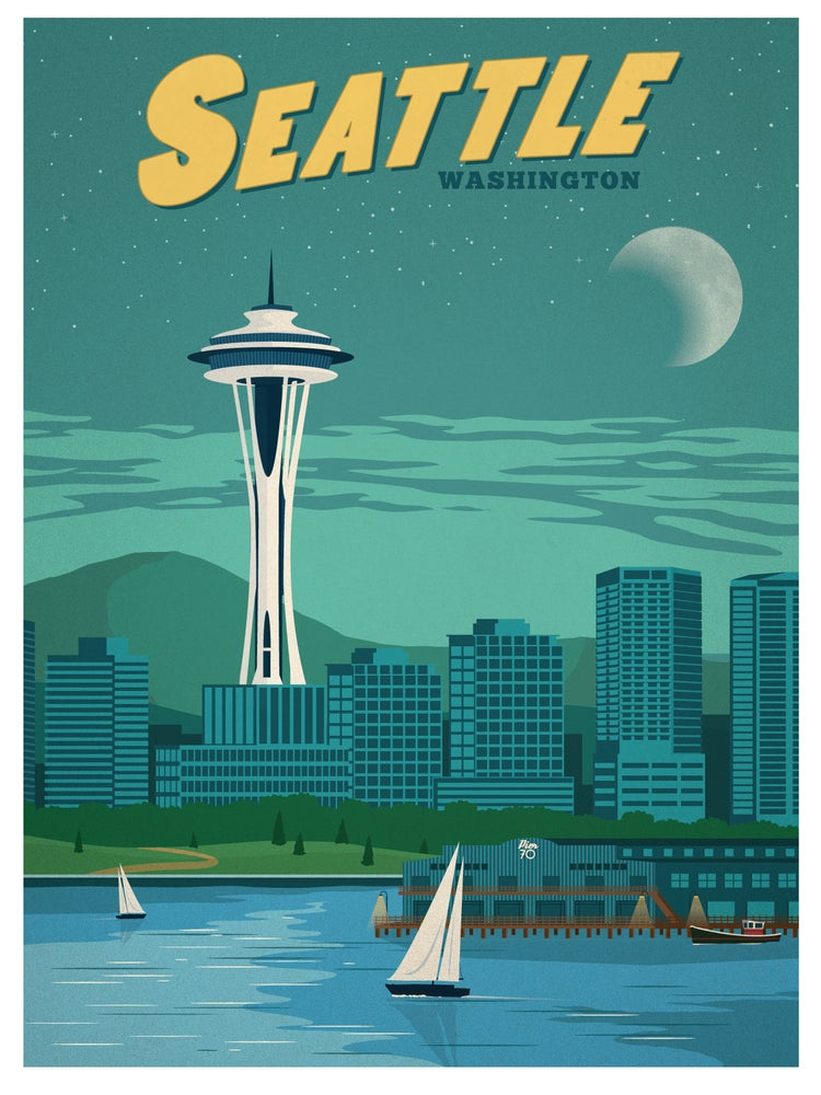 Image of Vintage Seattle Print
