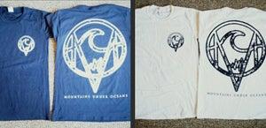 Image of White Mountains Under Oceans T-Shirt, Black Ink, Pocket and Full Back Design