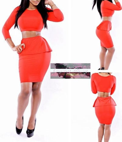 Image of TWO-PIECE RED BODY CON