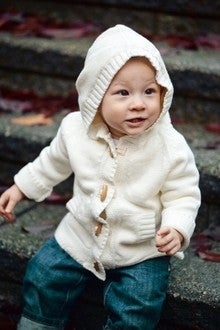 Image of Beba Bean Ivory Toggle Hoodie Sweater