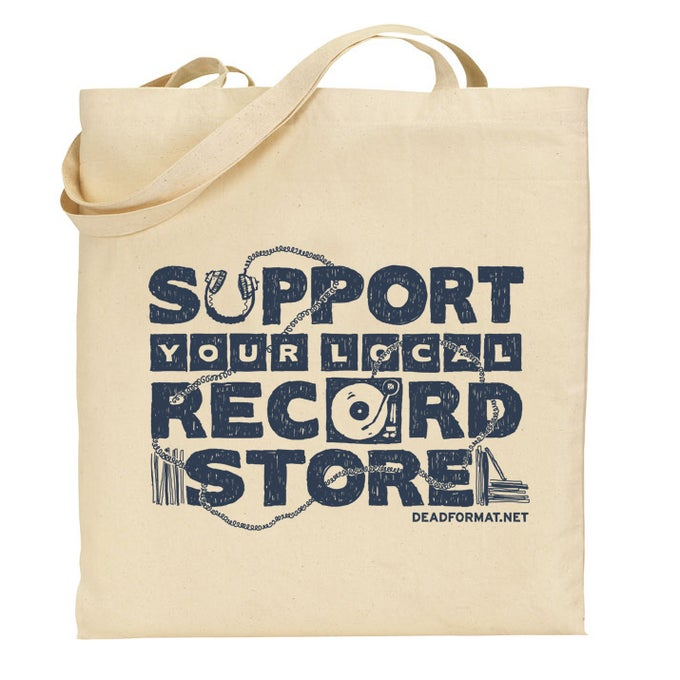 Image of Support Your Local Record Store Totebag