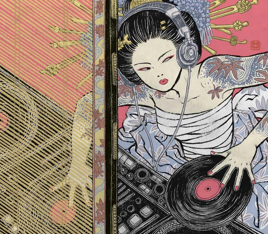 Image of popular print 7: DJ Geisha (open edition, signed + sealed)