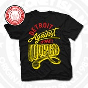 Image of Detroit Against The World Black (Red/Yellow) Tee