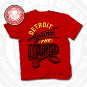 Image of Detroit Against The World Red (Blk/Yellow) Tee