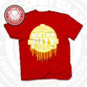 Image of Home Of The Hustlers Red (Yellow) Tee