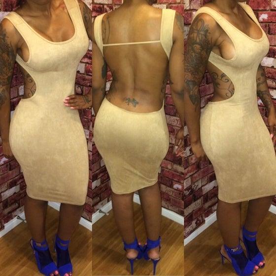 Image of Suede Nude Cherokee Dress