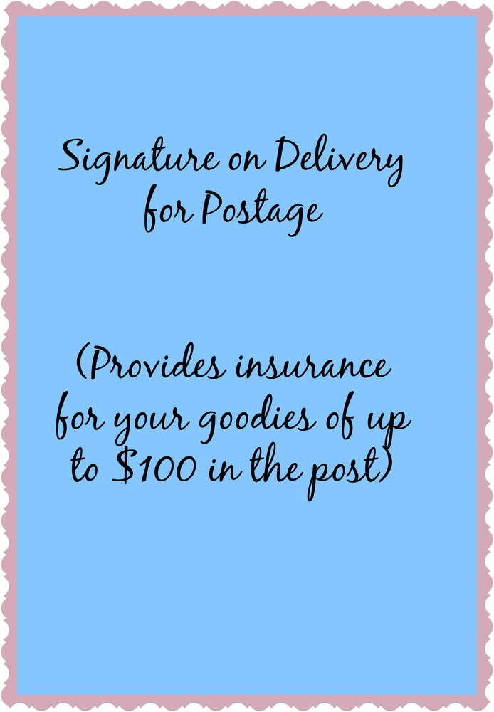 Image of Signature on Delivery for Post