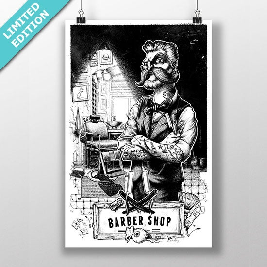 Parramatta Eels Framed Photos Print Poster Limited Edition: The Barber Shop Print / Neel's Anatomy