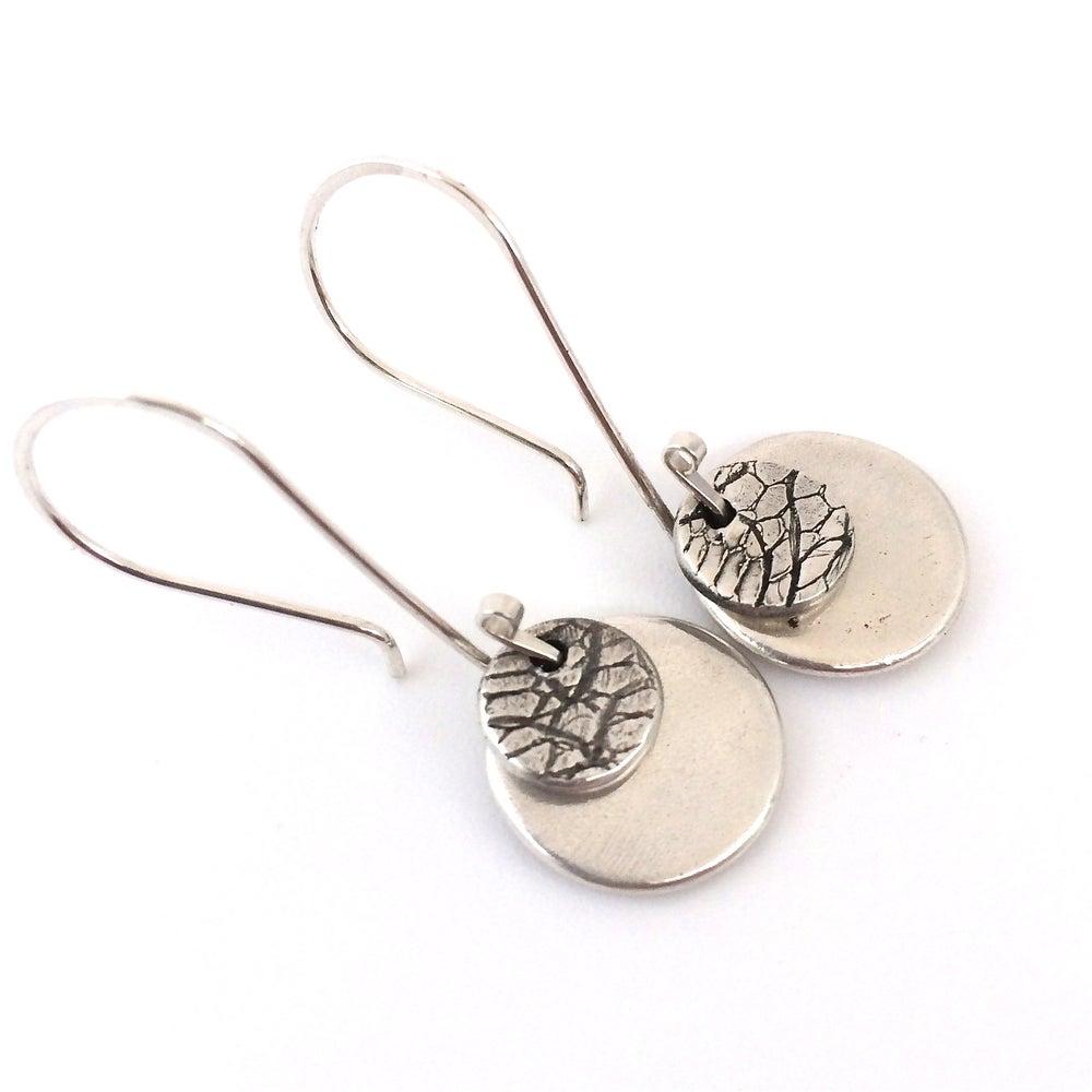 Image of Snakeskin Disc Earrings