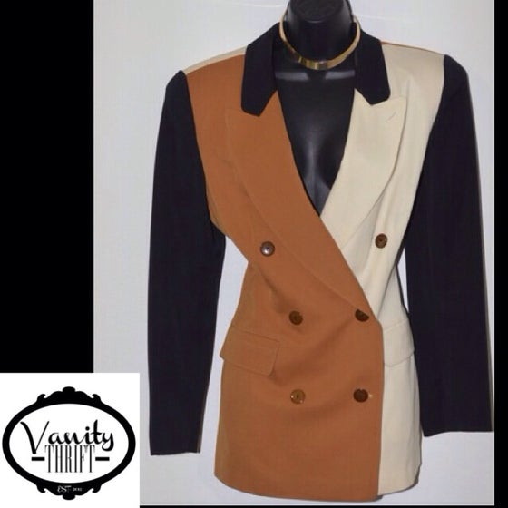 Image of Camel Black Blazer
