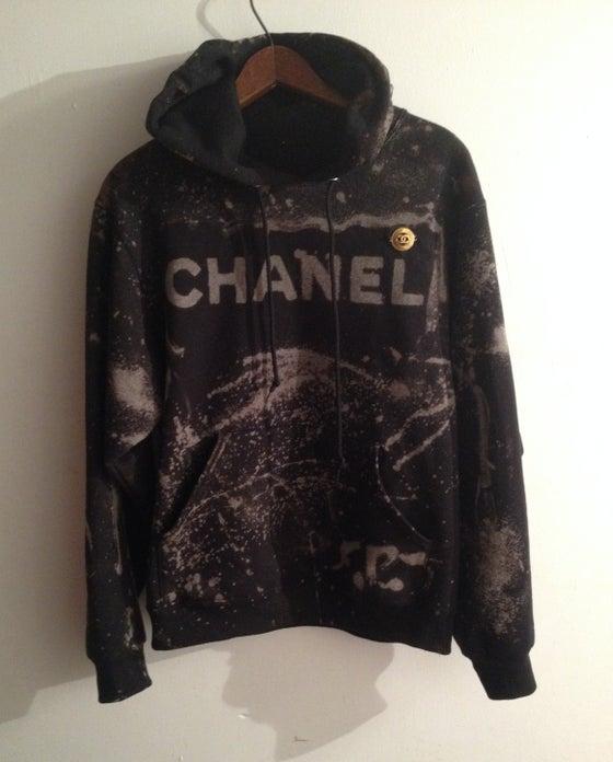 Image of Bleached Burn Chanel Hoodie