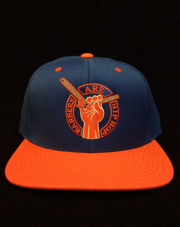 Image of Blue & Orange Barbers Are Hip Hop Snapback