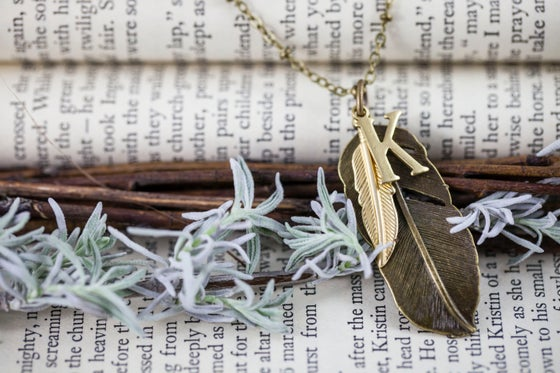 """Image of """"Alphabet Feather"""" Necklace"""