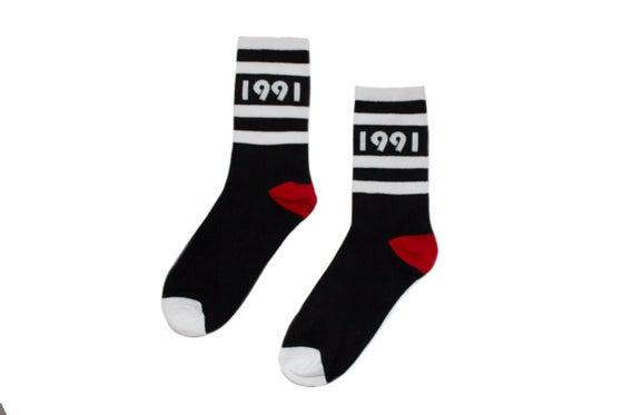 Image of Originator Socks (Blk/Wht/Red)