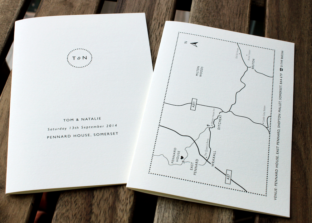 Image of Wedding Information Cards with Custom Map